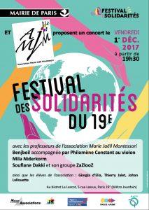 L'AMJ participe le 1er décembre au Festival des Solidarités