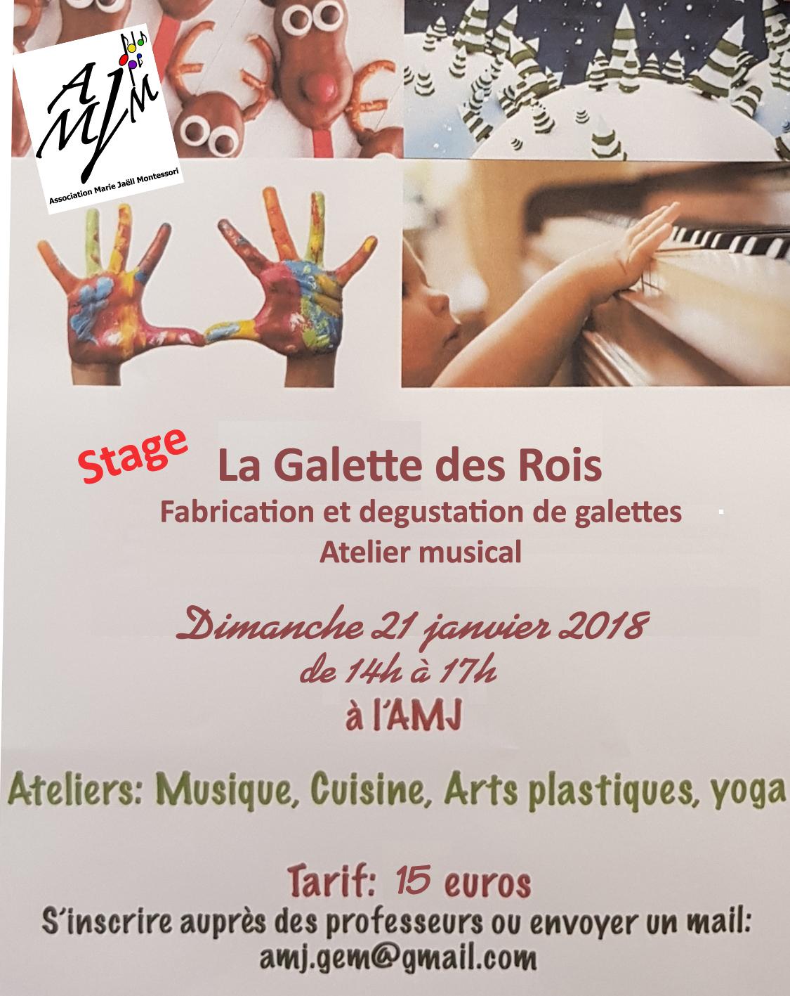 Atelier musical autour de la Galette des Rois - dimanche 21 juin