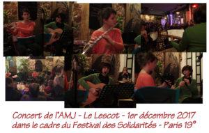 Concert le Lescot le 1er Décembre 2017